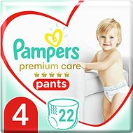 PAMPERS Premium Pants Carry Pack vel. 4 (22 ks) - Plenkové kalhotky