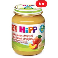 HiPP BIO Jablka s banány a broskvemi - 6× 125 g - Příkrm