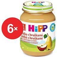 HiPP BIO Jablka s hruškami - 6× 125 g - Příkrm