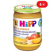 HiPP BIO Fruit slurry with whole grain cereals - 6 × 190 g - Baby Food