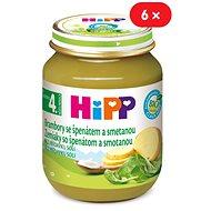 HiPP BIO Brambory se špenátem a se smetanou - 6× 125 g - Dětský příkrm