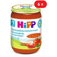 HiPP BIO Rajčatová polévka s kuřecím masem - 6× 190 g - Dětský příkrm
