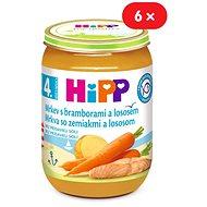 HiPP Karotka s bramborami a lososem - 6× 190 g - Dětský příkrm