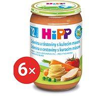HiPP BIO Zelenina a těstoviny s kuřecím masem - 6× 220 g - Dětský příkrm