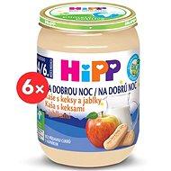 HiPP BIO Kaše na dobrou noc s keksy a jablky - 6× 190 g - Mléčná kaše