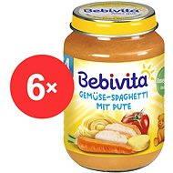 BEBIVITA Špagety s krůtím masem 6× 190 g - Příkrm
