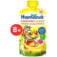 Hamánek Peach and Banana 8× 120g - Baby Food