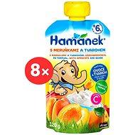 Hamánek Apricot and Quark 8× 120g - Baby Food