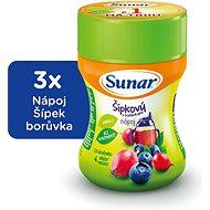 Sunar Rozpustný nápoj šípkový s borůvkami 3× 200 g - Nápoj