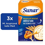 Sunbreaker semolina with honey for good night - 3 × 225 g - Milk pudding