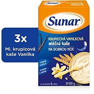 Sunbreaker semolina with vanilla for good night - 3 × 225 g - Milk pudding