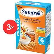 Sunárek medová kašička - 3× 225 g - Mléčná kaše