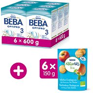 BEBA OPTIPRO 3 (6× 600 g) + NESTLE NATURNES BIO Sušenky 6× 150 g
