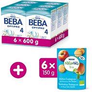 BEBA OPTIPRO 4 (6× 600 g) + NESTLE NATURNES BIO Sušenky 6× 150 g