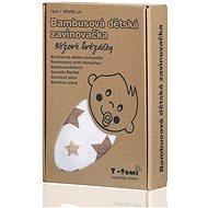 T-tomi Bambusová zavinovačka 1 ks - béžové hvězdičky - Zavinovačka