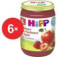 HiPP BIO Jablka s jahodami a malinami - 6× 190 g - Příkrm