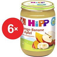 HiPP BIO Jablka s mangem a banány - 6× 190 g - Příkrm