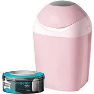 Tommee Tippee Sangenic Tec Nappy Disposal Tub - Pink - Nappy Bin