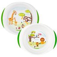 Chicco Jídelní set talíř a miska, 12m+ - Dětská jídelní sada