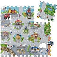 Chicco Pěnové puzzle Město 30 × 30 cm, 9 ks - Pěnové puzzle