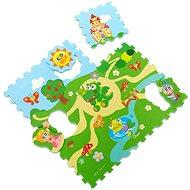 Chicco Puzzle pěnové Hrad 30 × 30 cm 9ks - Pěnové puzzle