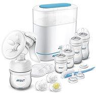 Philips AVENT Sada man.ods.+ sterilizátor parní elektrický 3 v 1 - Startovací sada pro miminko