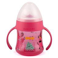 Suavinex Lahvička s oušky Booo 150 ml - růžová - Láhev na pití pro děti