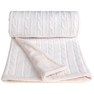 T-tomi Knitted Blanket WINTER White - Stroller Blanket