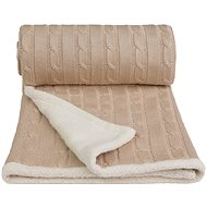 T-tomi Knitted Blanket WINTER Beige - Stroller Blanket