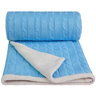 T-tomi Knitted Blanket WINTER Blue - Stroller Blanket