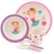 Zopa Bambusová sada nádobí - Dancing girl - Dětská jídelní sada