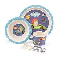 Zopa Bambusová sada nádobí - Little racer - Dětská jídelní sada