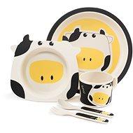 Zopa Bambusová sada nádobí - Cow - Dětská jídelní sada