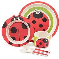 Zopa Bambusová sada nádobí - Ladybird - Dětská jídelní sada