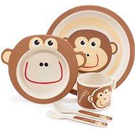 Zopa Bambusová sada nádobí - Monkey - Dětská jídelní sada