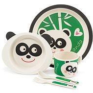 Zopa Bambusová sada nádobí - Panda - Dětská jídelní sada