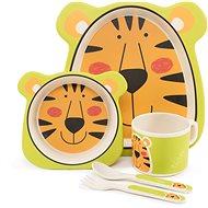 Zopa Bambusová sada nádobí - Tiger - Dětská jídelní sada