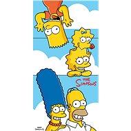 Jerry Fabrics Simpsons family clouds - Dětská osuška