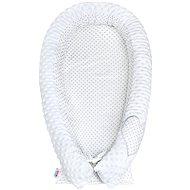 New Baby Luxusní Hnízdečko pro miminko z Minky - bílé - Hnízdo pro miminko