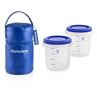 MINILAND pouch + food jars Blue 2 pcs - Food Container Set