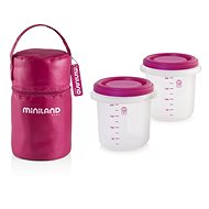 MINILAND pouch + food jars Pink 2 pcs - Food Container Set
