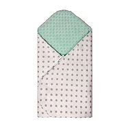 T-tomi Rychlozavinovačka MINKY, white - green / grey dots - Zavinovačka