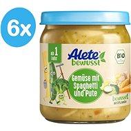 ALETE BIO Příkrm Zelenina se špagetami a krůtím masem 6× 250 g