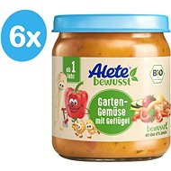 ALETE BIO Side dish Garden vegetables with poultry 6 × 250 g - Kids dish