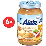 ALETE BIO Příkrm Jablko s broskví a sušenkami 6× 190 g