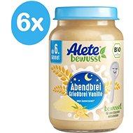 ALETE BIO Kaše večerní semolinová s vanilkovou příchutí 6× 190 g