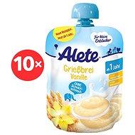 ALETE Krupicová kaše spříchutí vanilky 10× 85 g - Mléčná kaše