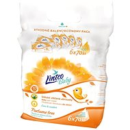 LINTEO BABY PARFUME FREE wet wipes in a bag (6 × 70 pcs)