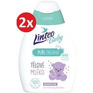 LINTEO BABY Tělové Mléko s Bio měsíčkem lékařským 2× 250 ml - Dětské tělové mléko
