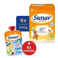 Sunar Complex 4 - 6x 600 g + Vlhčené ubrousky Linteo Baby